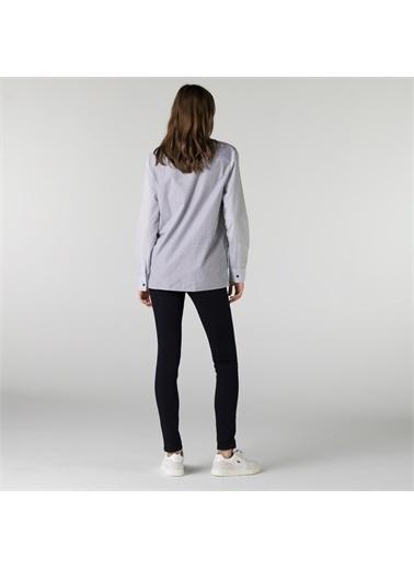 Lacoste Lacoste Kadın Slim Fit Lacivert Denim Pantolon Lacivert